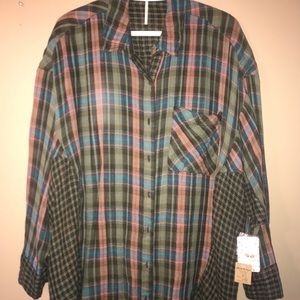 Free People Flannel. NWT